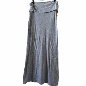 Womens Long Gray Athleta Beachy Ankle Length Skirt